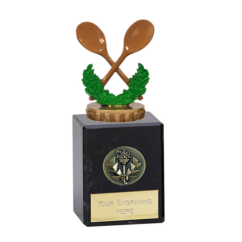 6 Inch Wooden Spoon Figure On Classic Award