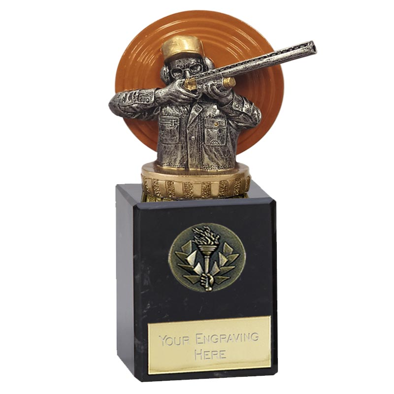6 Inch Clay Shooting Figure On Classic Award