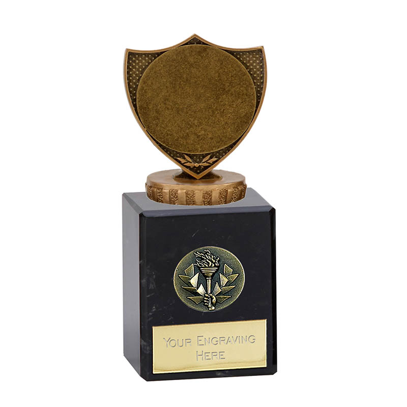"6 Inch Shield with 2"" Centre Figure on Classic Award"