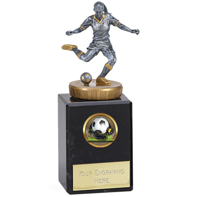 6 Inch Footballer Female Figure On Classic Award