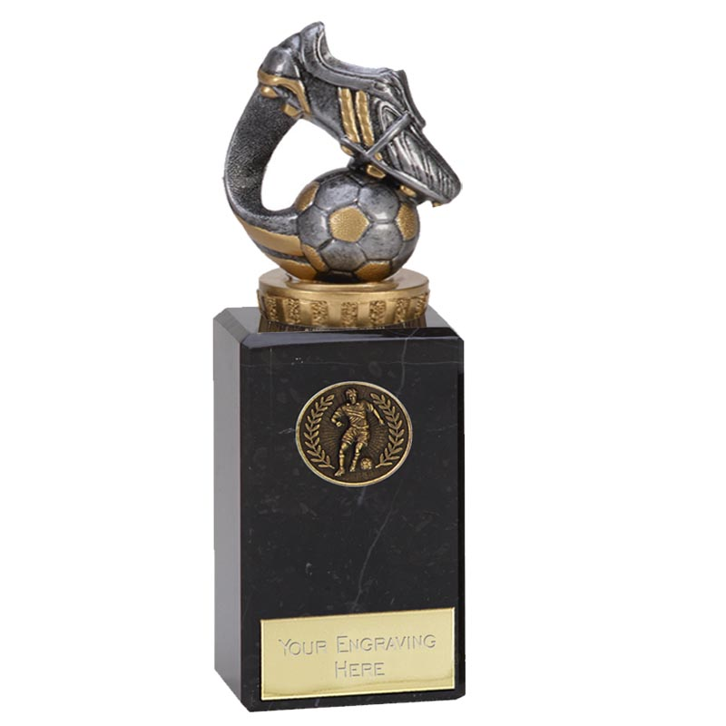18cm Boot & Ball Wave Figure On Football Classic Award