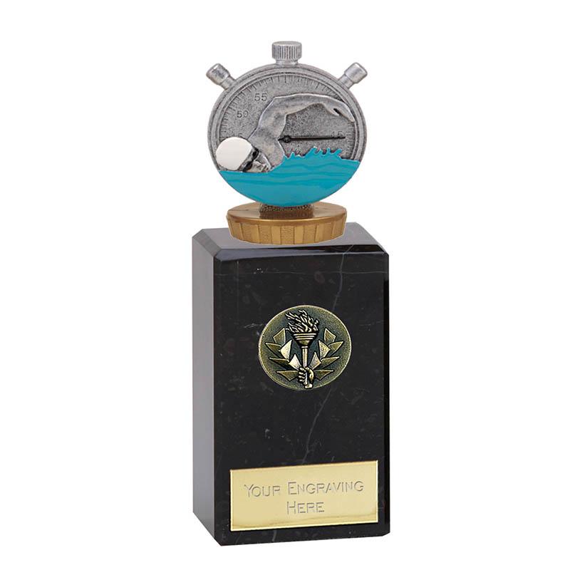 18cm Swimming Figure On Classic Award