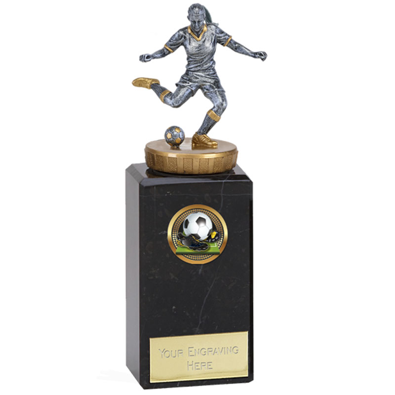 18cm Footballer Female Figure On Classic Award