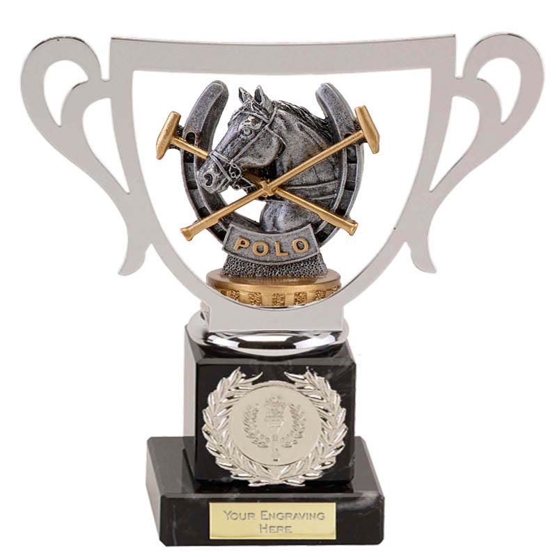 19cm Horse Polo Figure on Horse Riding Galaxy Award