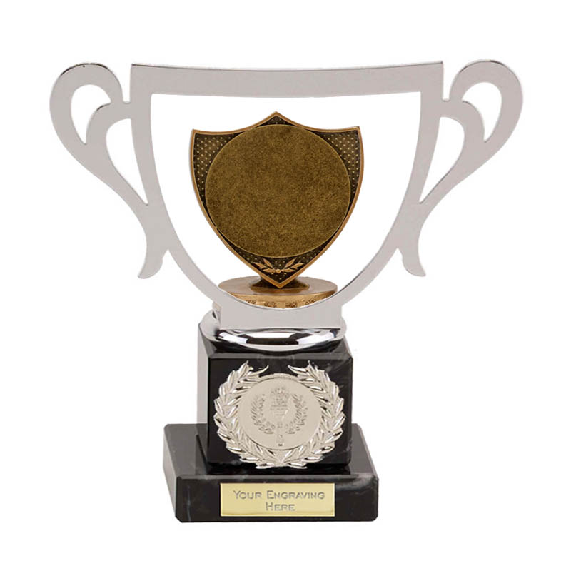 "19cm Shield with 2"" Centre Figure on Galaxy Award"