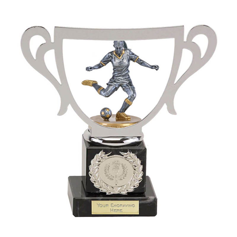 19cm Footballer Female Figure on Football Galaxy Award