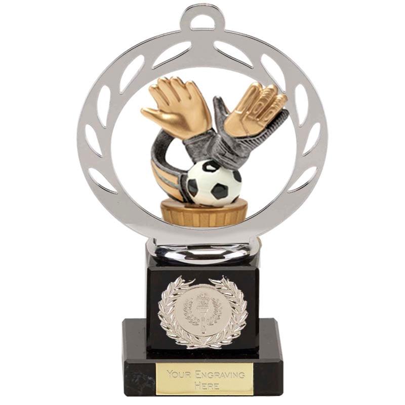21cm Keeper Glove Figure On Football Galaxy Award