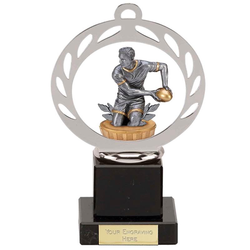 21cm Rugby Figure on Galaxy Award