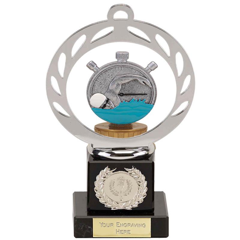 21cm Swimming Figure On Galaxy Award