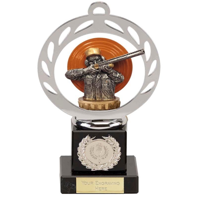 21cm Clay Shooting Figure On Galaxy Award