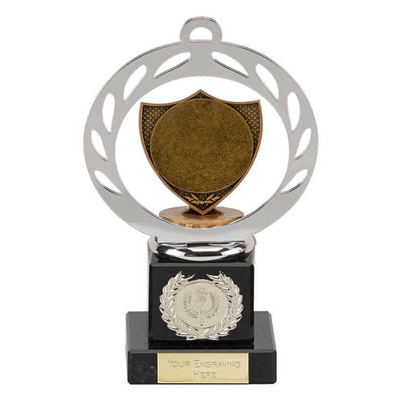 "21cm Shield with 2"" Centre Figure on Galaxy Award"