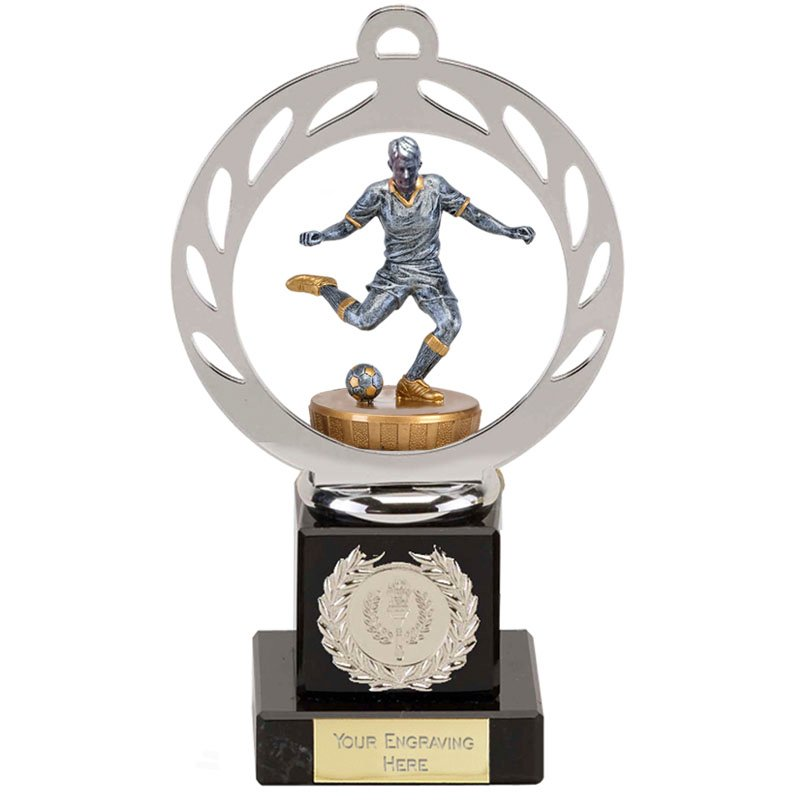 21cm Footballer Male Figure On Galaxy Award