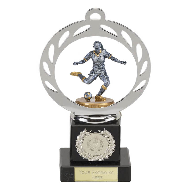 21cm Footballer Female Figure On Galaxy Award
