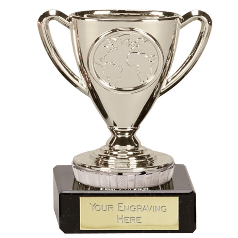 4 Inch Mini Silver Trophy Flexx Award
