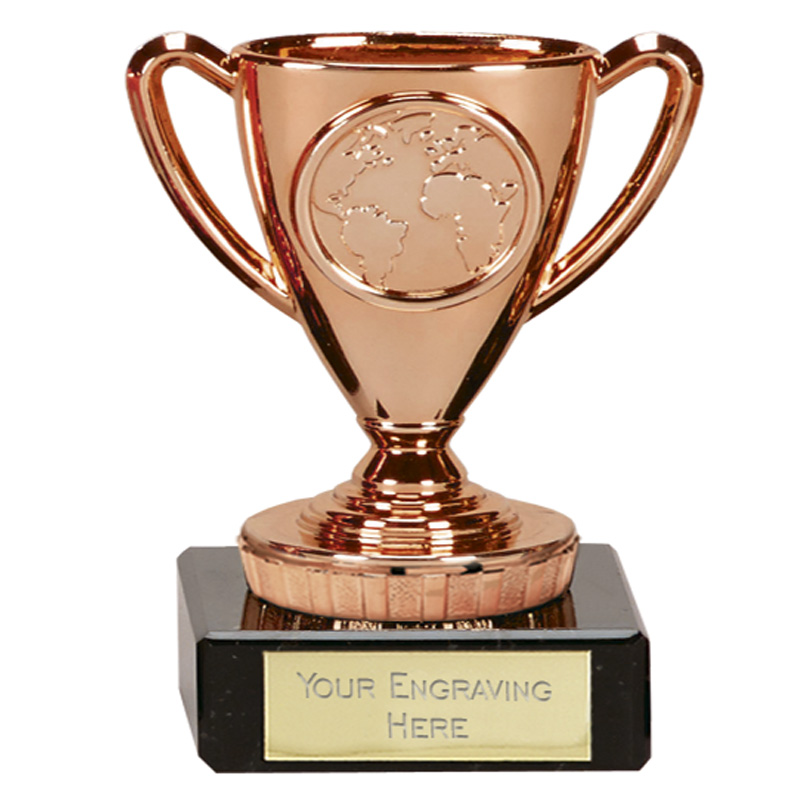 4 Inch Mini Bronze Trophy Flexx Award