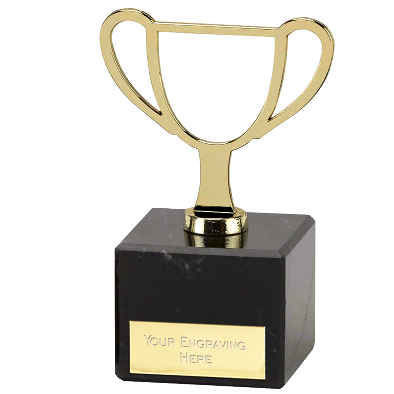 5 Inch Gold Trophy Outline Galaxy Award