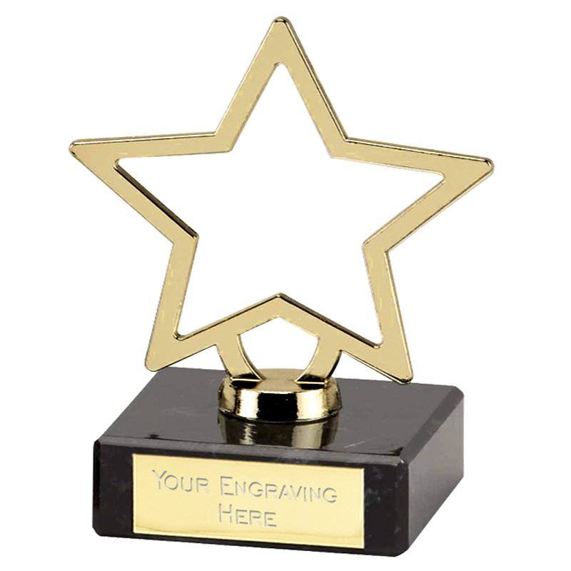 4 Inch Gold Star Outline Galaxy Award