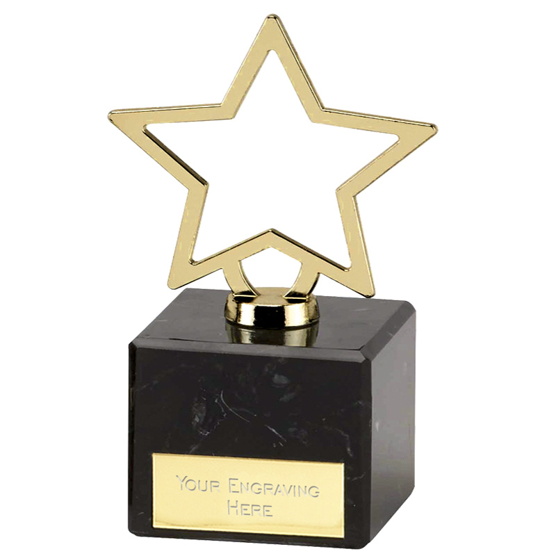 5 Inch Gold Star Outline Galaxy Award