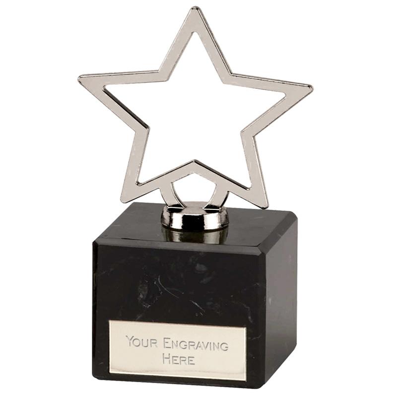 5 Inch Silver Star Outline Galaxy Award