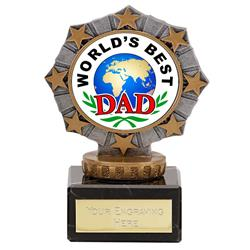 Worlds Best Dad Star Border Award