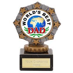 Worlds Best Dad Star Border Award