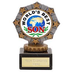 Worlds Best Son Star Border Award