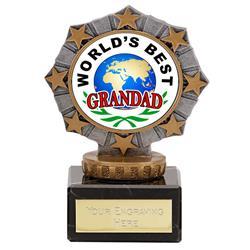 Worlds Best Grandad Star Border Award