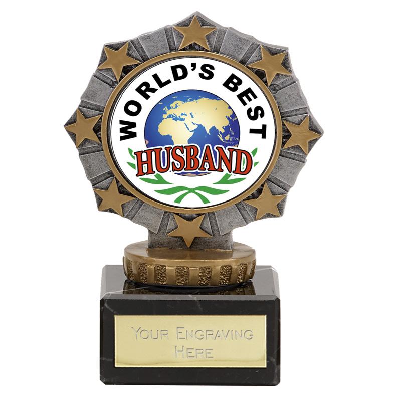 Worlds Best Husband Star Border Award