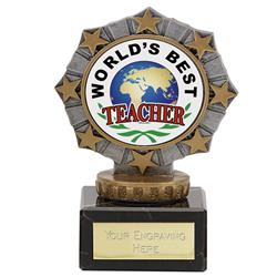 Worlds Best Teacher Star Border Award
