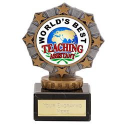 Worlds Best Teaching Assistant Star Border Award