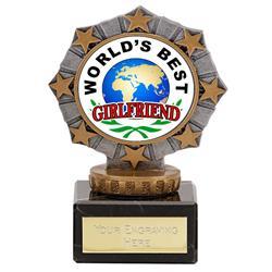 Worlds Best Girlfriend Star Border Award