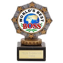 Worlds Best Boss Star Border Award