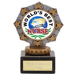 Worlds Best Nurse Star Border Award