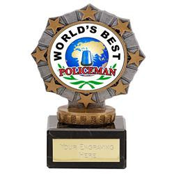 Worlds Best Policeman Star Border Award