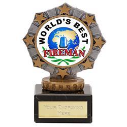 Worlds Best Fireman Star Border Award