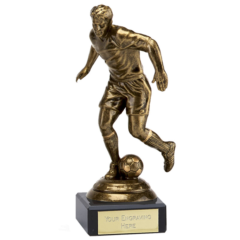 5 Inch Bronze Effect Football Icon Statue