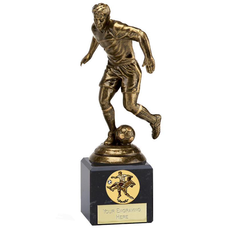 7 Inch Bronze Effect Football Icon Statue