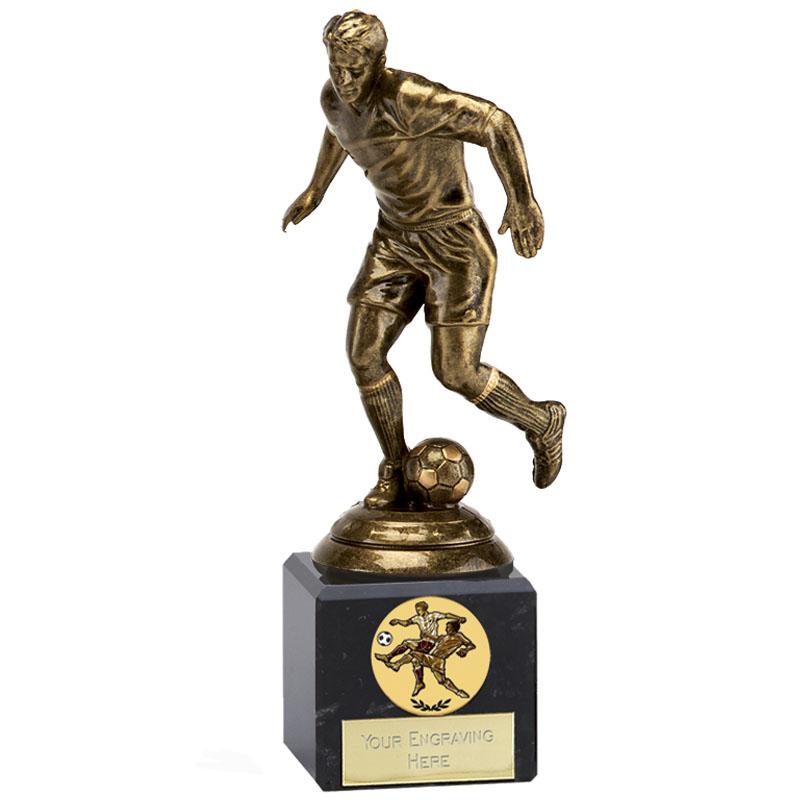 7 Inch Bronze Effect Football Icon Statue