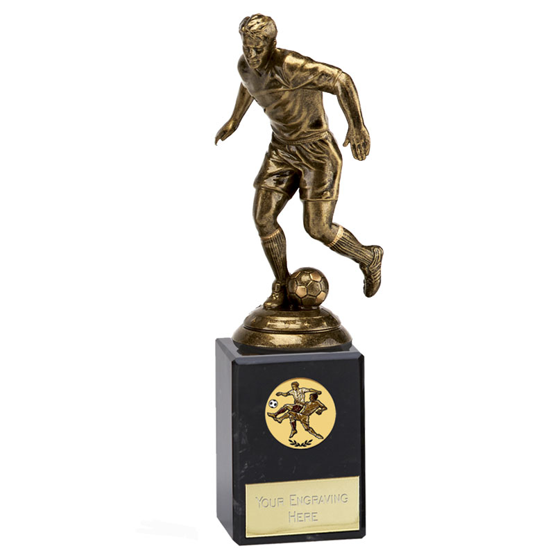 8 Inch Bronze Effect Football Icon Statue