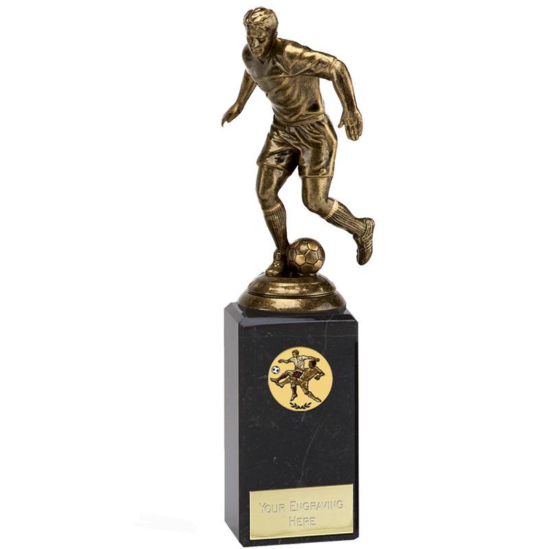 9 Inch Bronze Effect Football Icon Statue