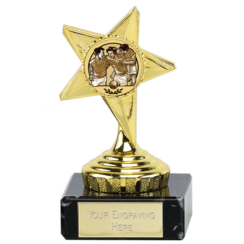 Gold Star Football Mini Award