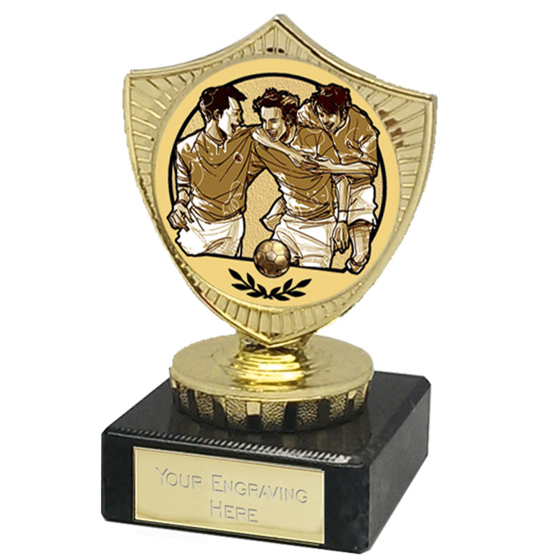 4 Inch Gold Shield Football Mini Award
