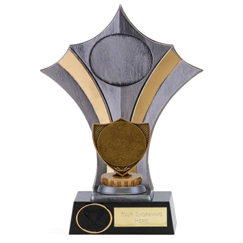 """23cm Shield with 2"""" Centre Figure on Rugby Albany Award"""