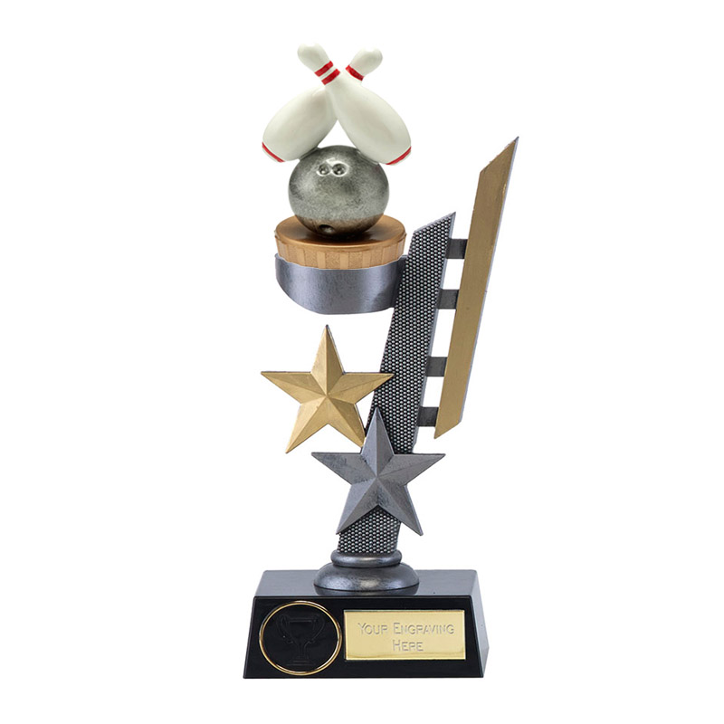 24cm Ten Pin Bowling Figure on Bowling Arena Award