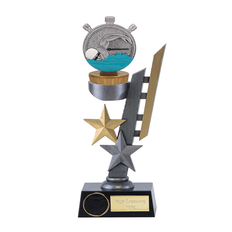 24cm Swimming Figure On Arena Award