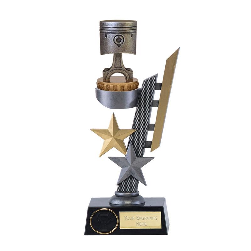 24cm Piston Figure On Motorsports Arena Award