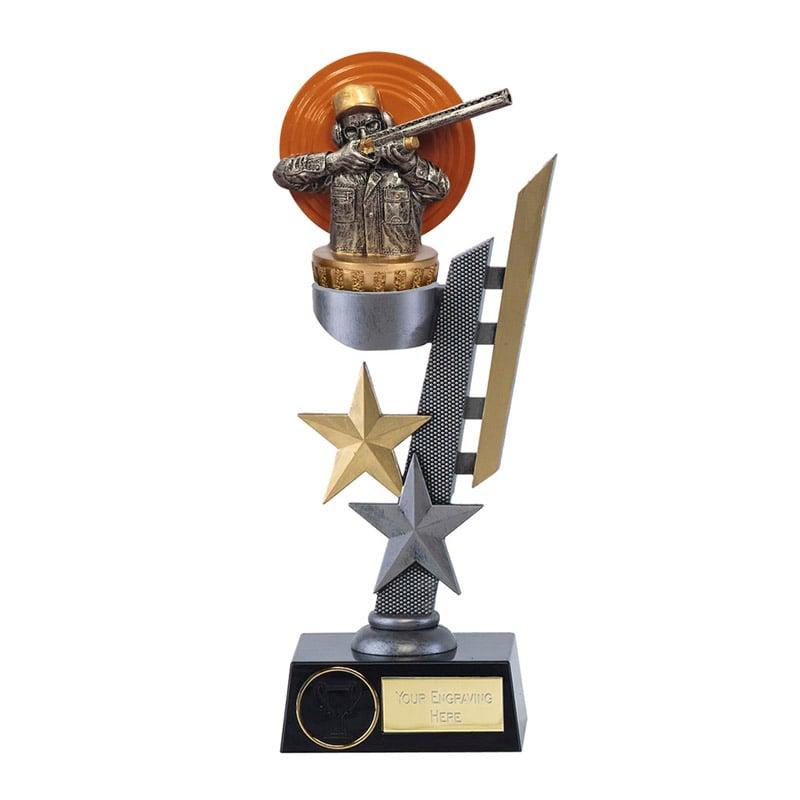 24cm Clay Shooting Figure on Shooting Arena Award