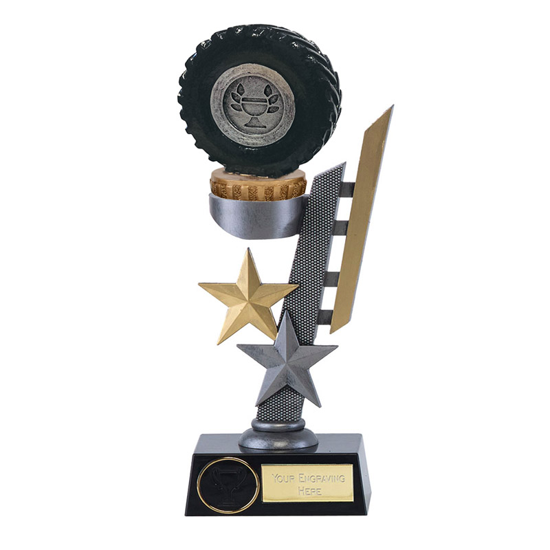 24cm Tractor Tyre Figure On Arena Award