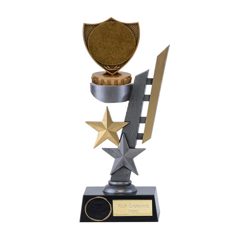 """24cm Shield with 2"""" Centre Figure on Arena Award"""