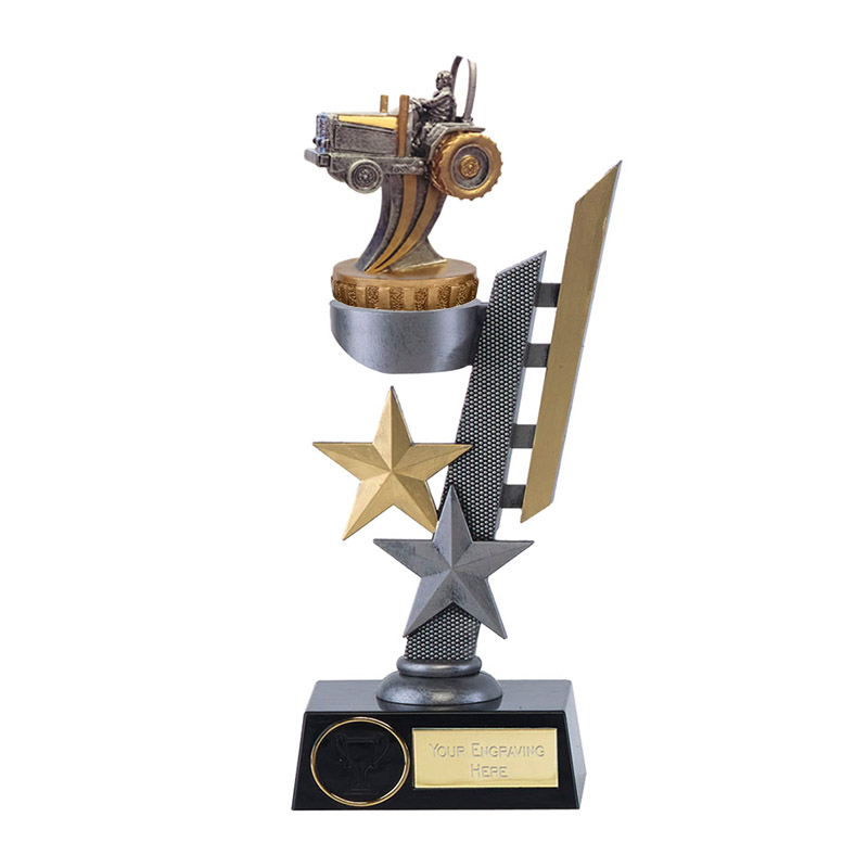 24cm 3D Tractor Figure On Arena Award
